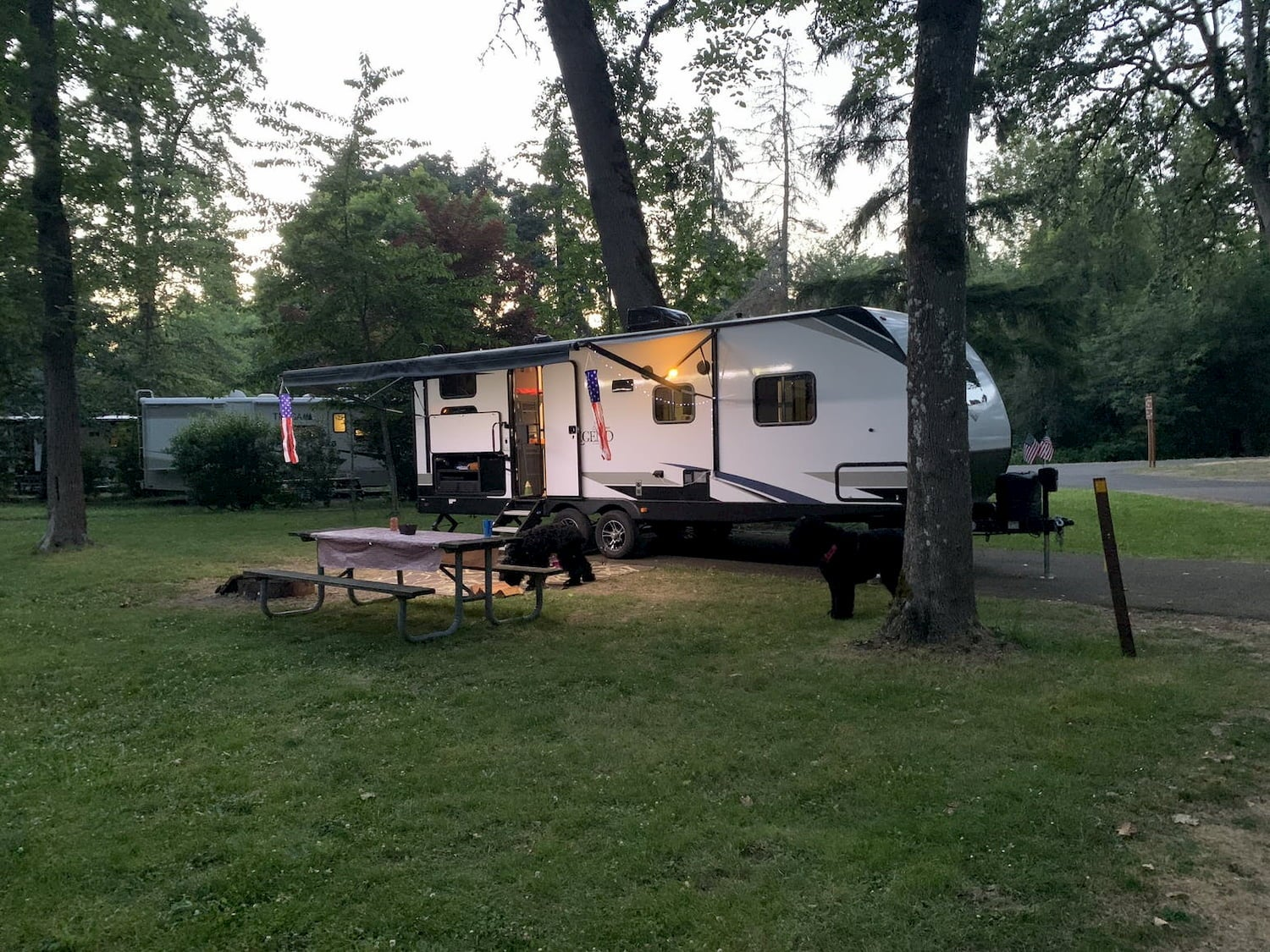 pull-behind trailer at campground