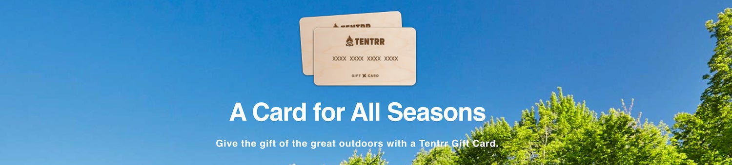 promo image from tentrr gift cards