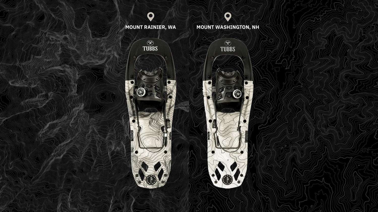 tubs snowshoes side by side