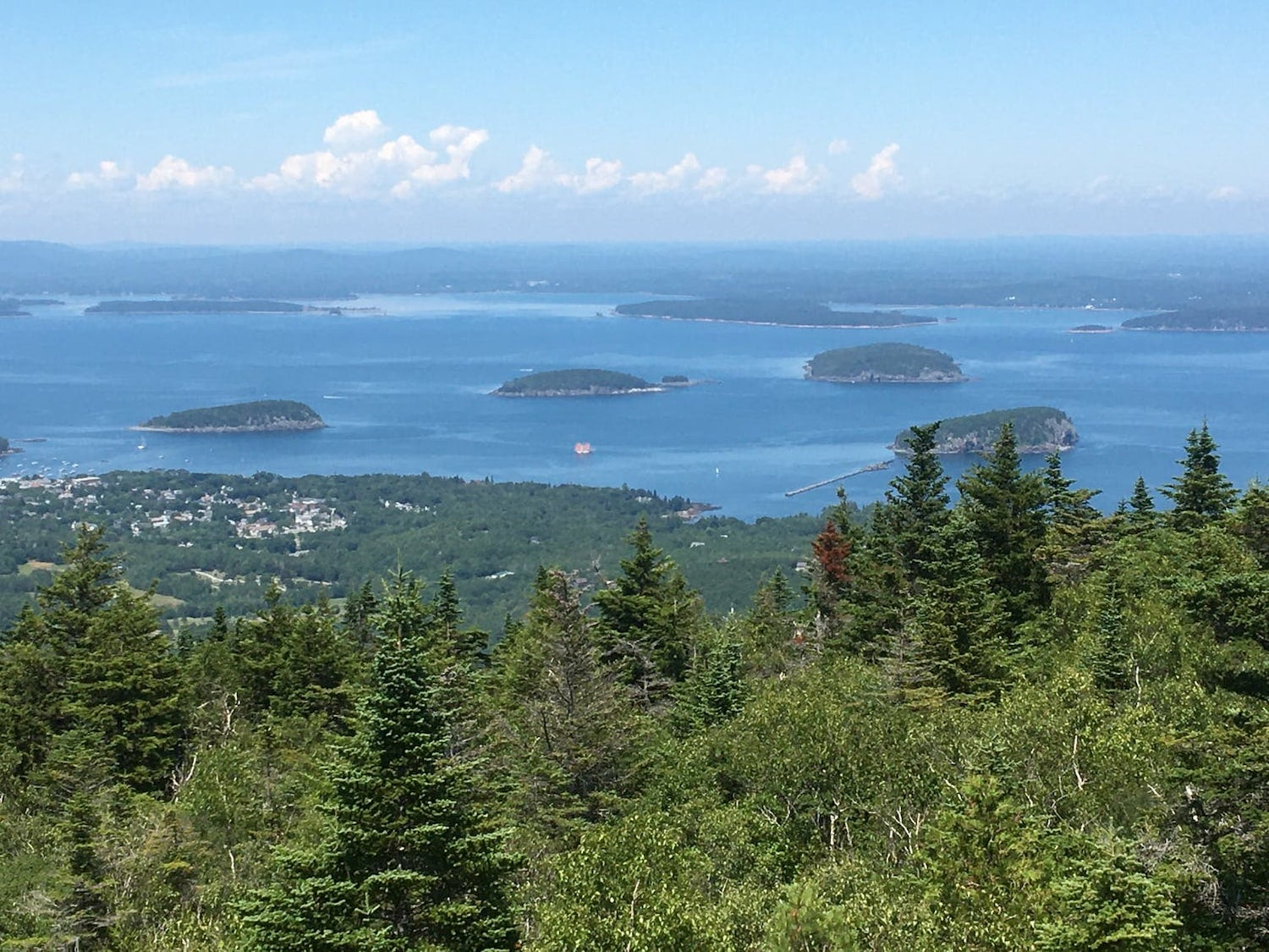view of islands from a mountain