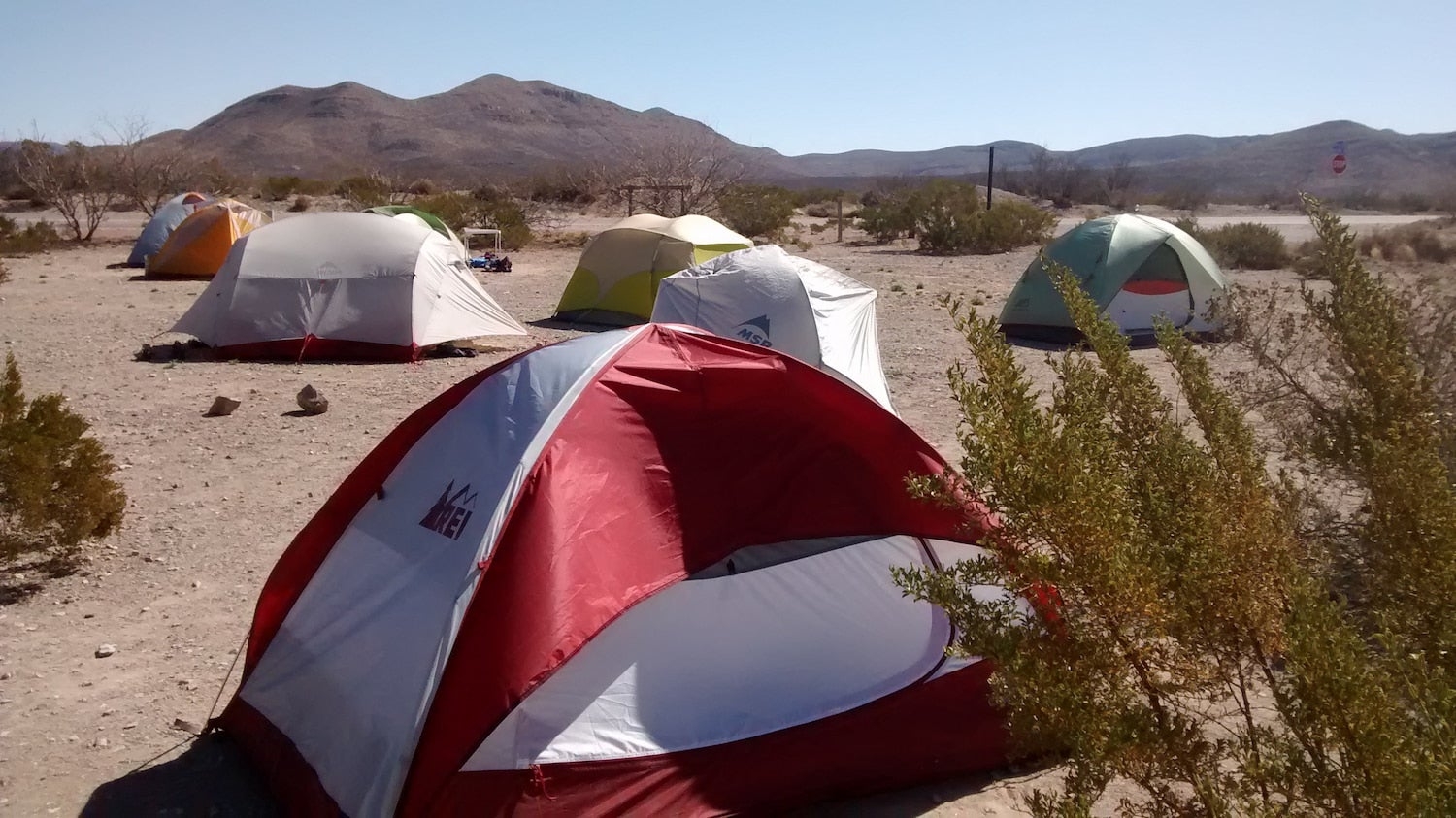 a bunch of tents on the ground