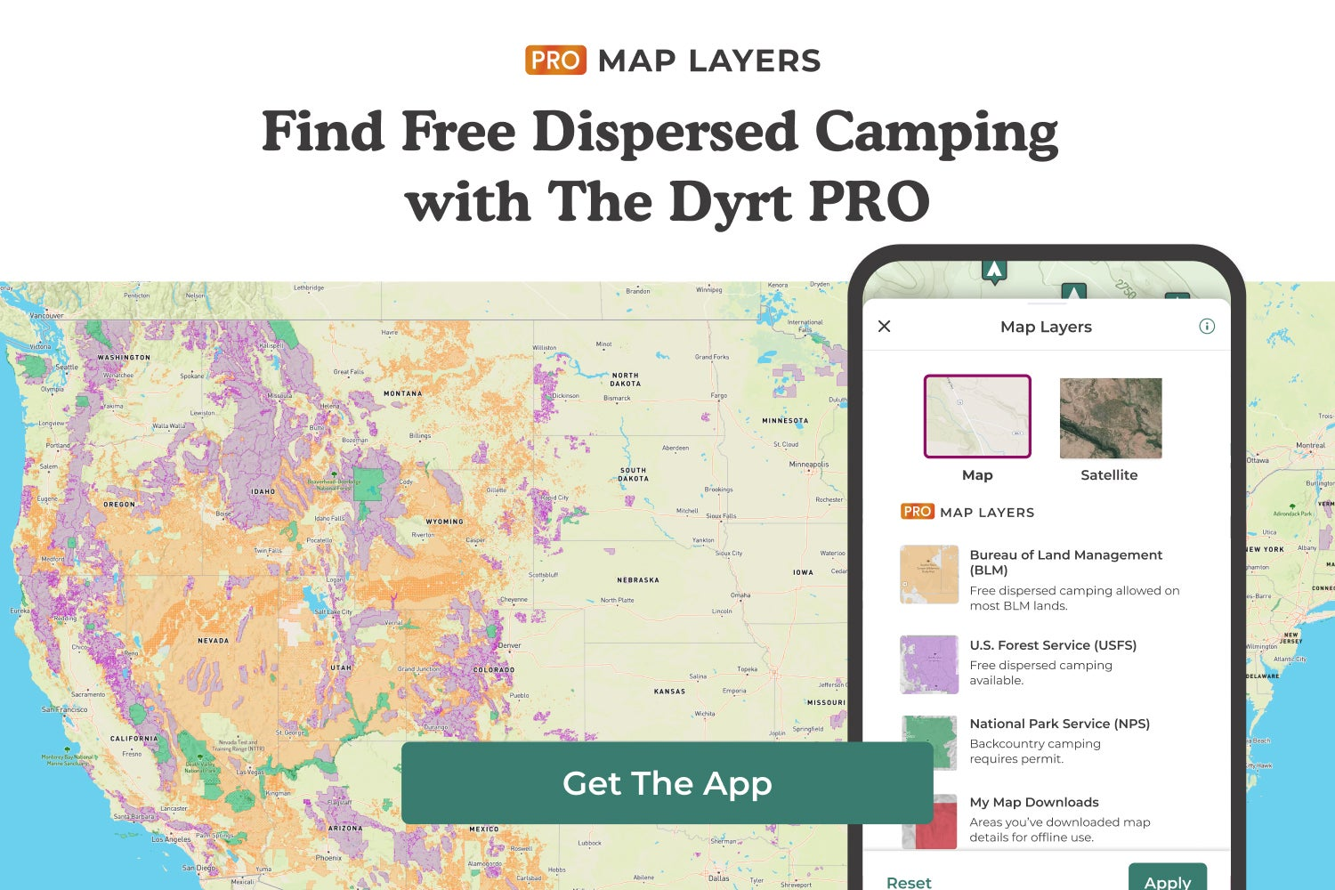 find free dispersed camping with the dyrt pro