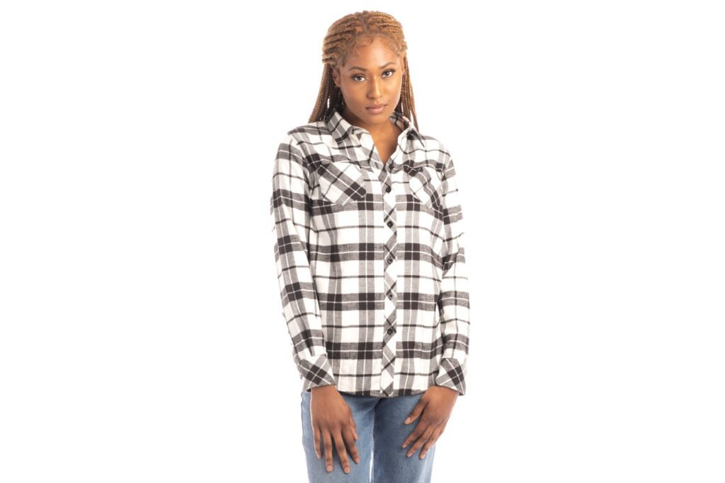 woman wearing flannel