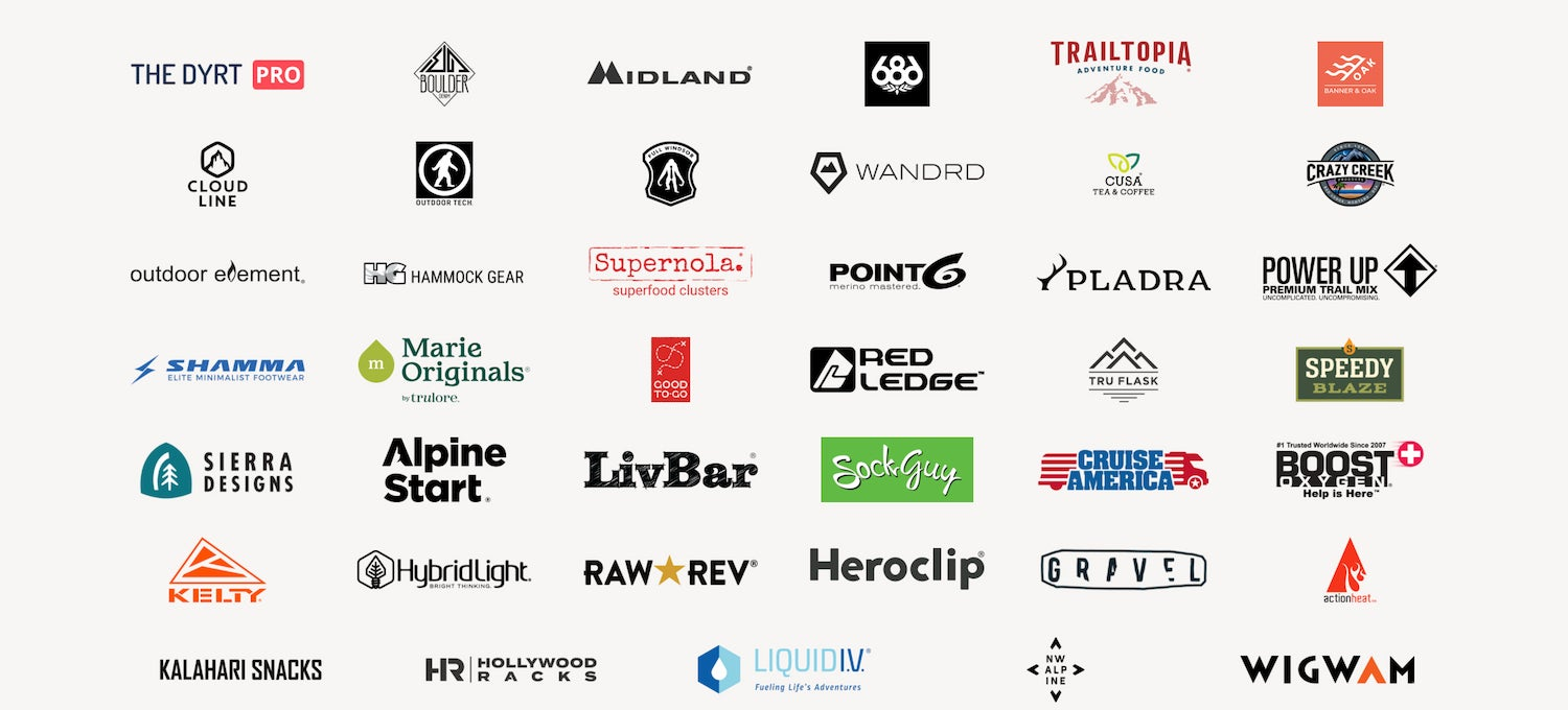 logos of 40 other brands sponsoring the contest