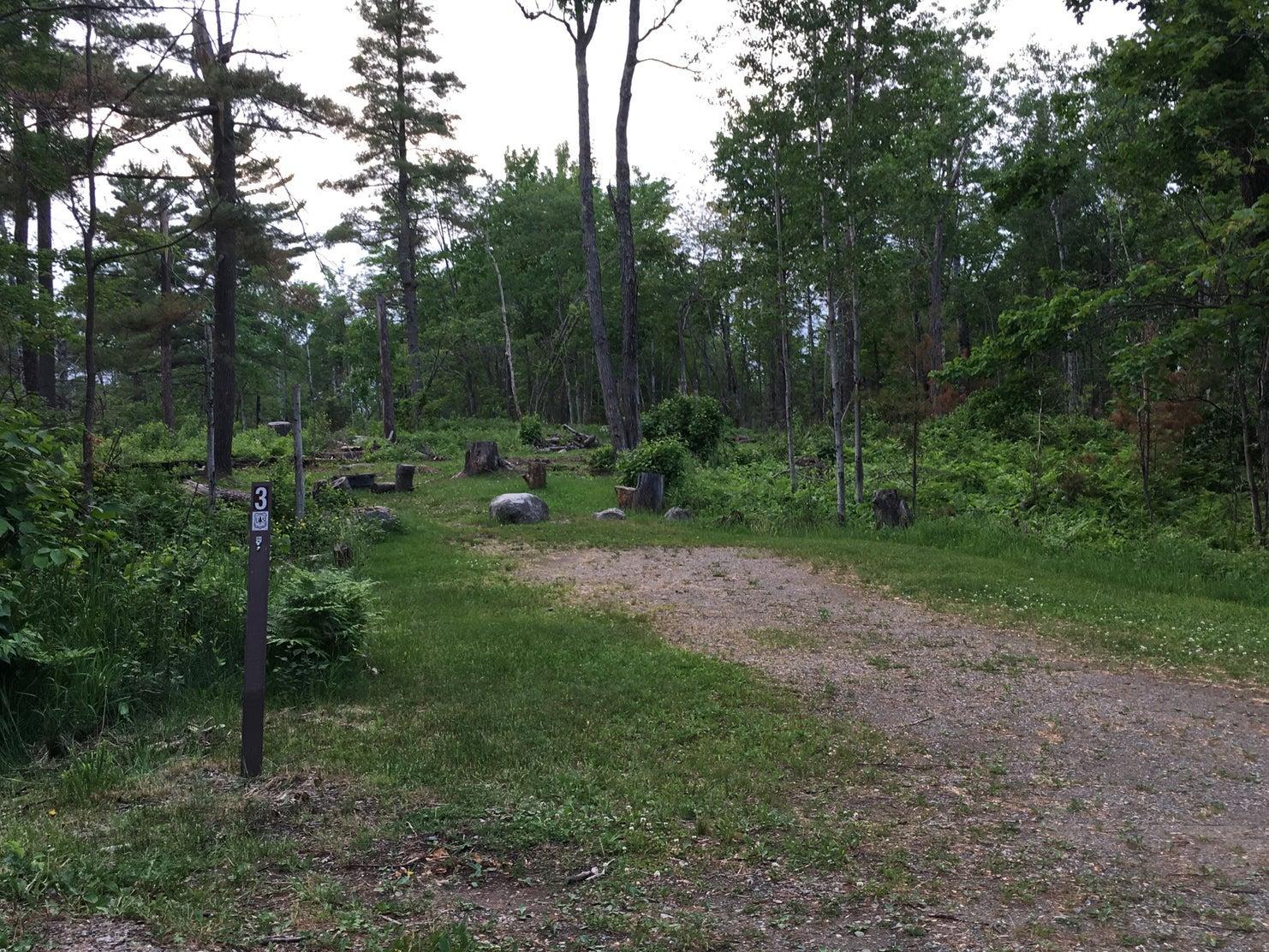 empty campsite