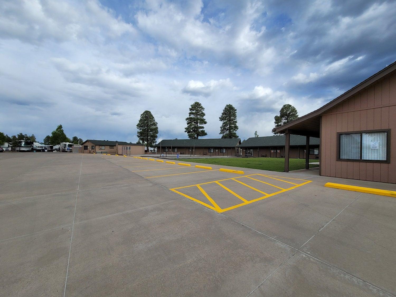parking lot at rv resort