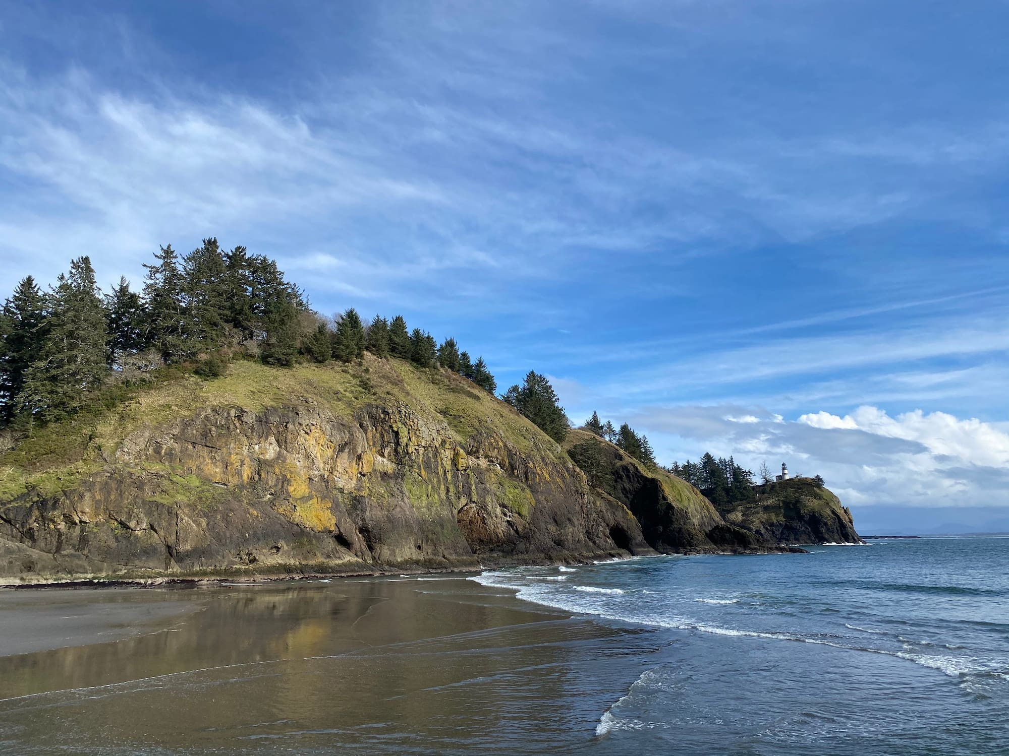 bluff by the ocean