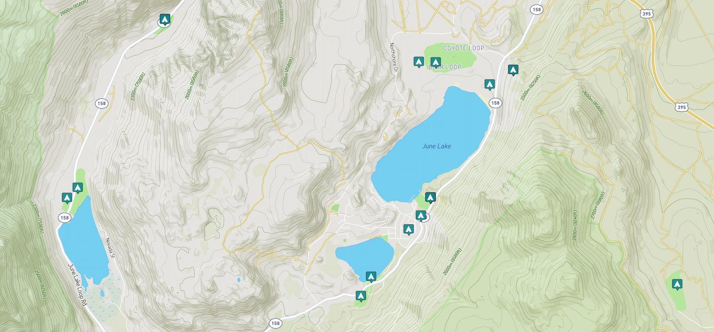 map of june lake camping