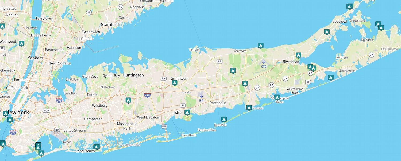 map of beach camping long island