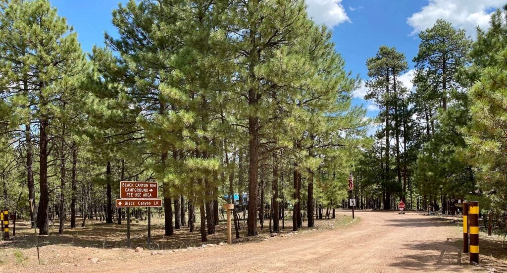 picture of campground entrance