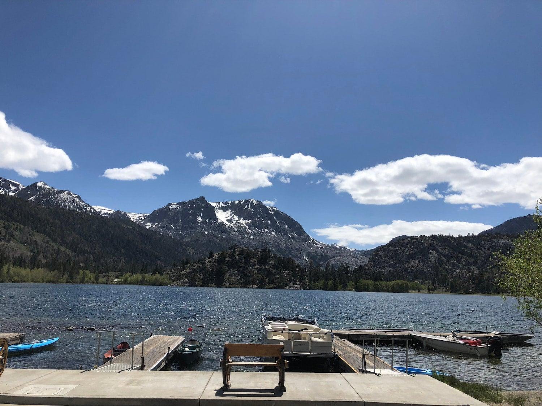 dock at june lake