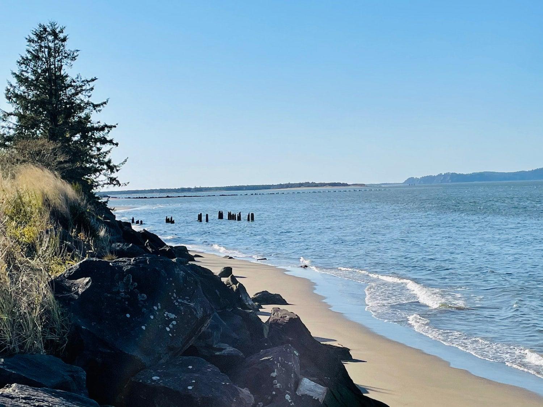 bluff overlooking the ocean