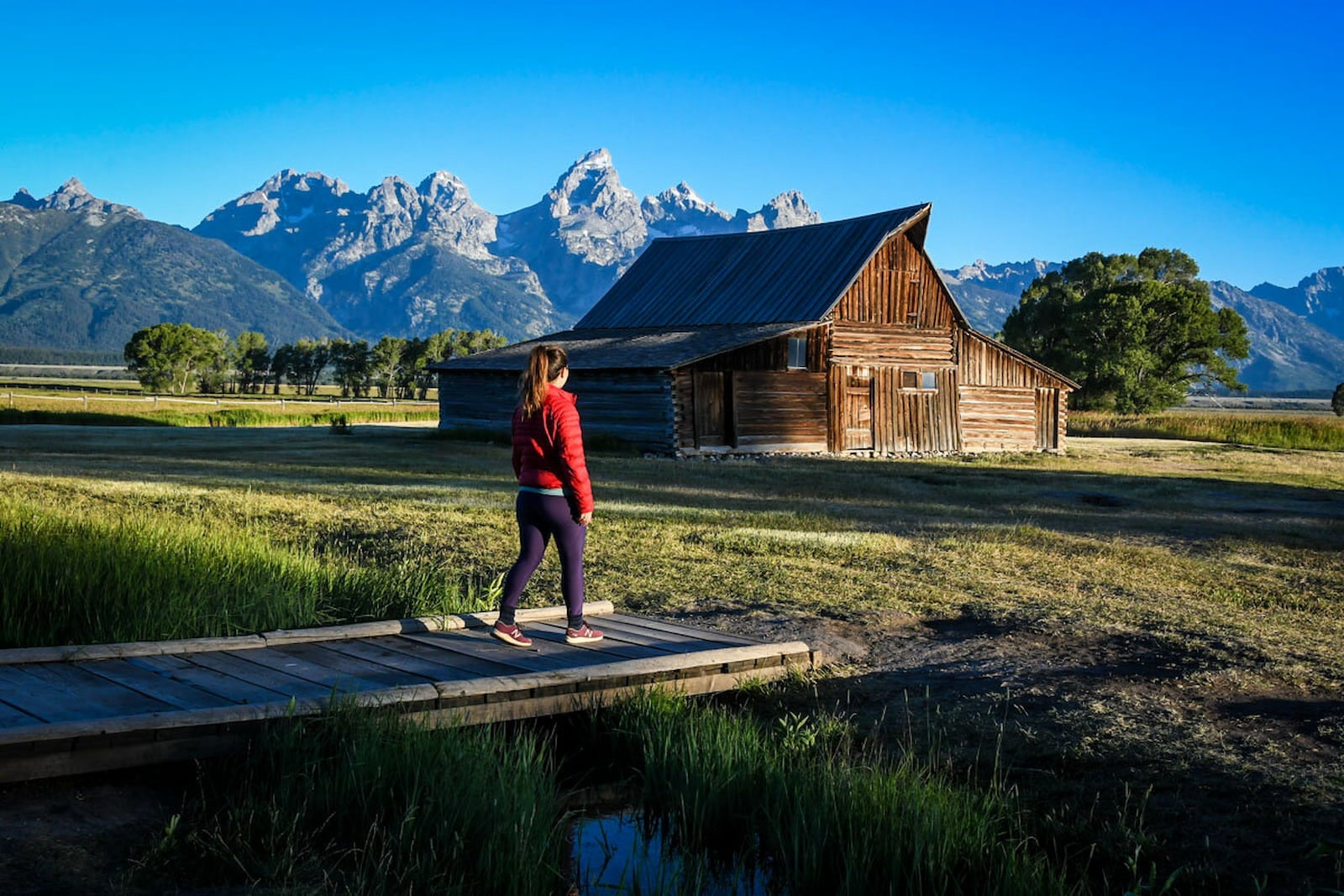 Katie from Two Wandering Soles in the Grand Teton National Park in Wyoming.
