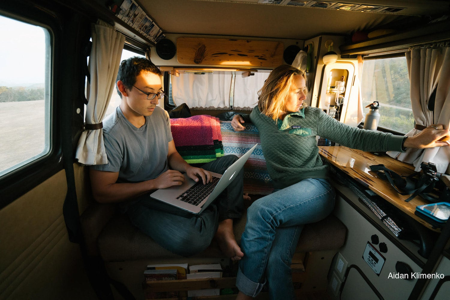 Mak and Owen of Bound for nowhere working in one of their rigs.
