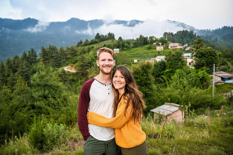 Ben and Katie of Two Wandering Soles in Nepal.