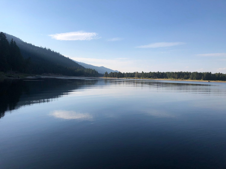 large lake and water