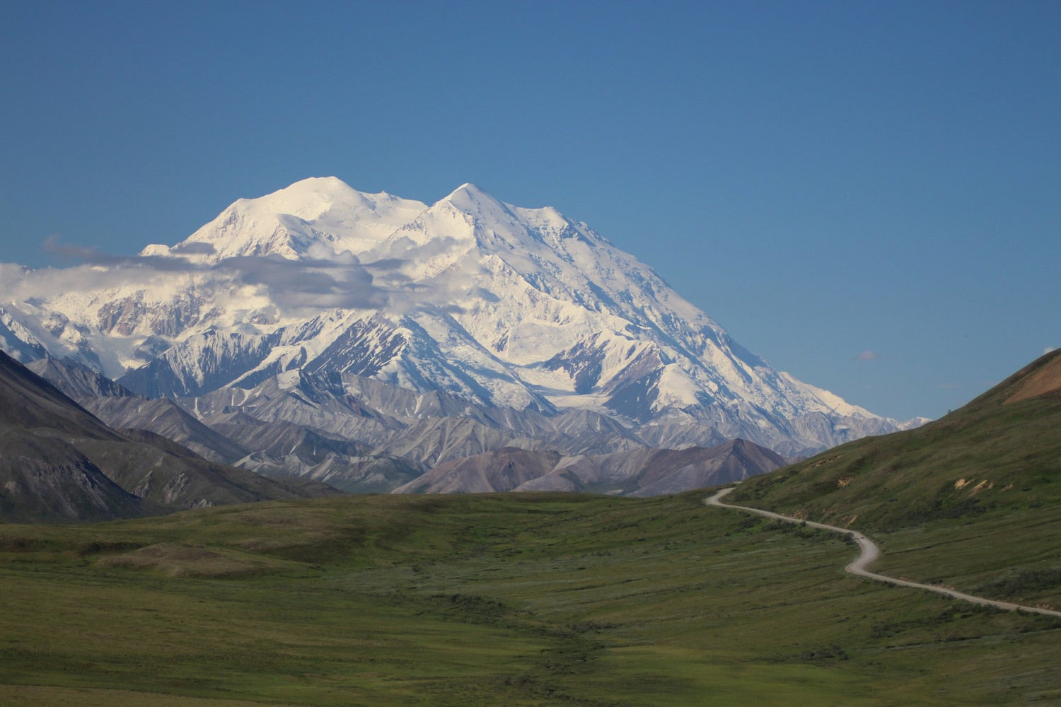 image of snow covered denali
