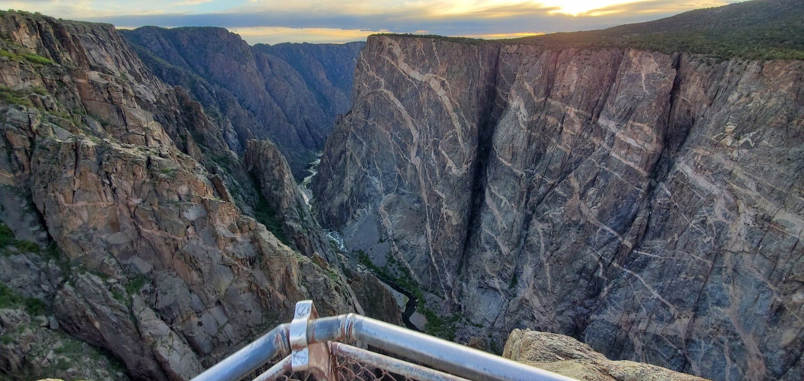 View from the South Rim of Gunnison Black Canyon in Colorado.