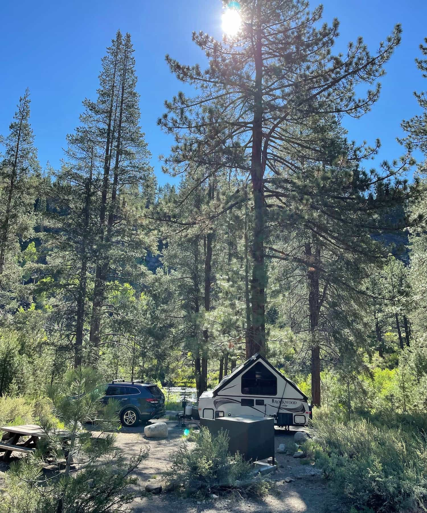 Granite Flat campground, Tahoe National Forest