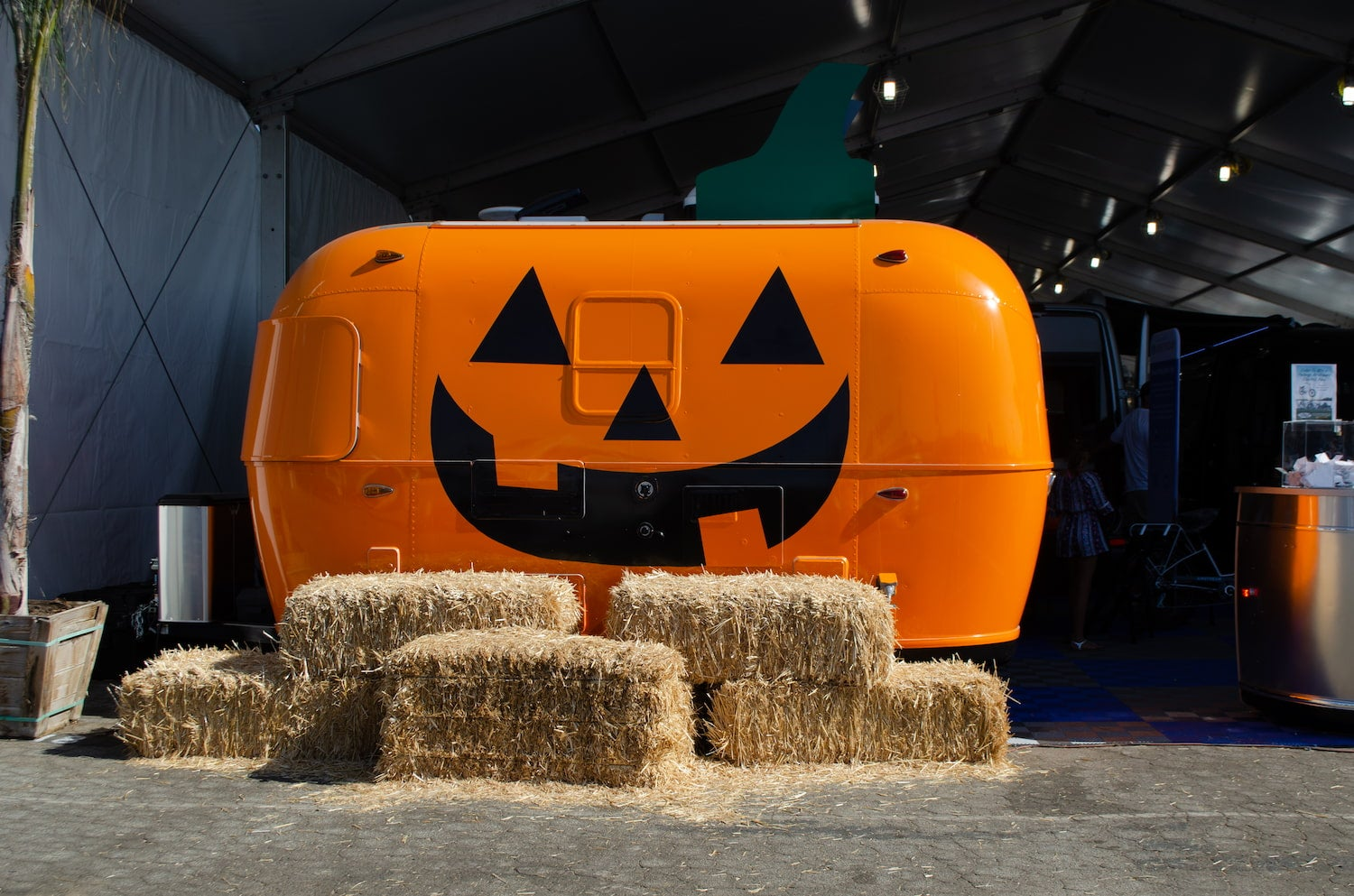 Halloween airstream at campground.